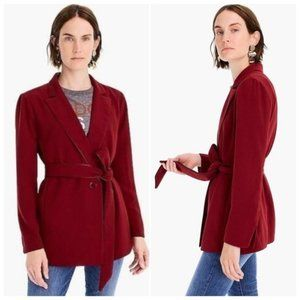 J Crew | 365 Crepe Belted Blazer Jacket Size Small